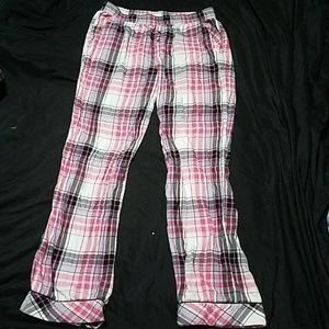 Victoria's Secret pink and black plaid pajama pant